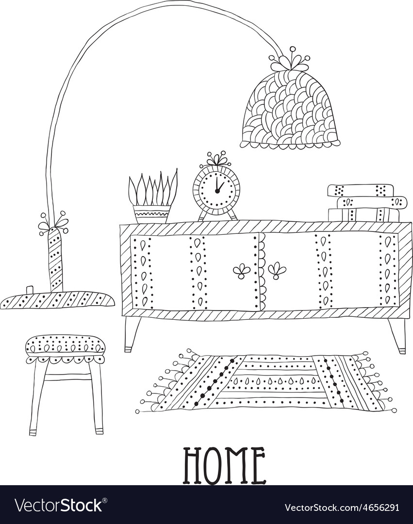 Shelf and lamp - set of design elements vector | Price: 1 Credit (USD $1)