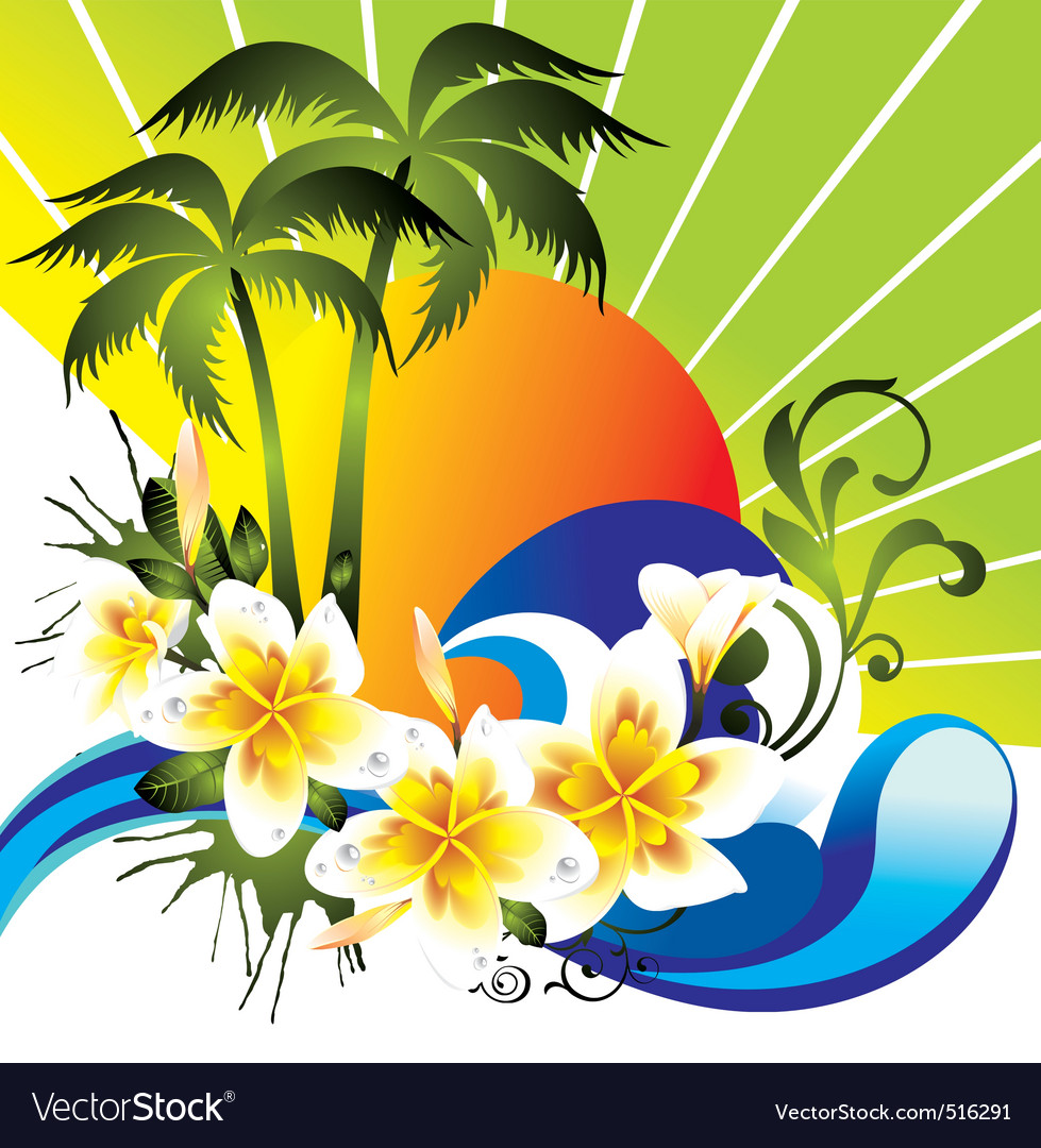 Summer tropical vector | Price: 3 Credit (USD $3)