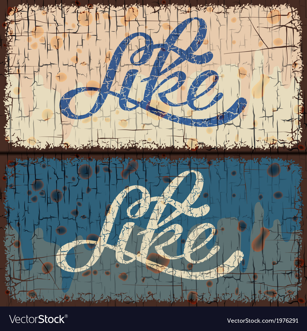 Vintage signs with like text word vector | Price: 1 Credit (USD $1)