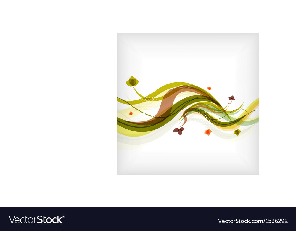 Autumn seasonal wave modern background vector | Price: 1 Credit (USD $1)