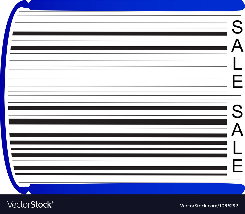 Book stylized as barcode vector | Price: 1 Credit (USD $1)