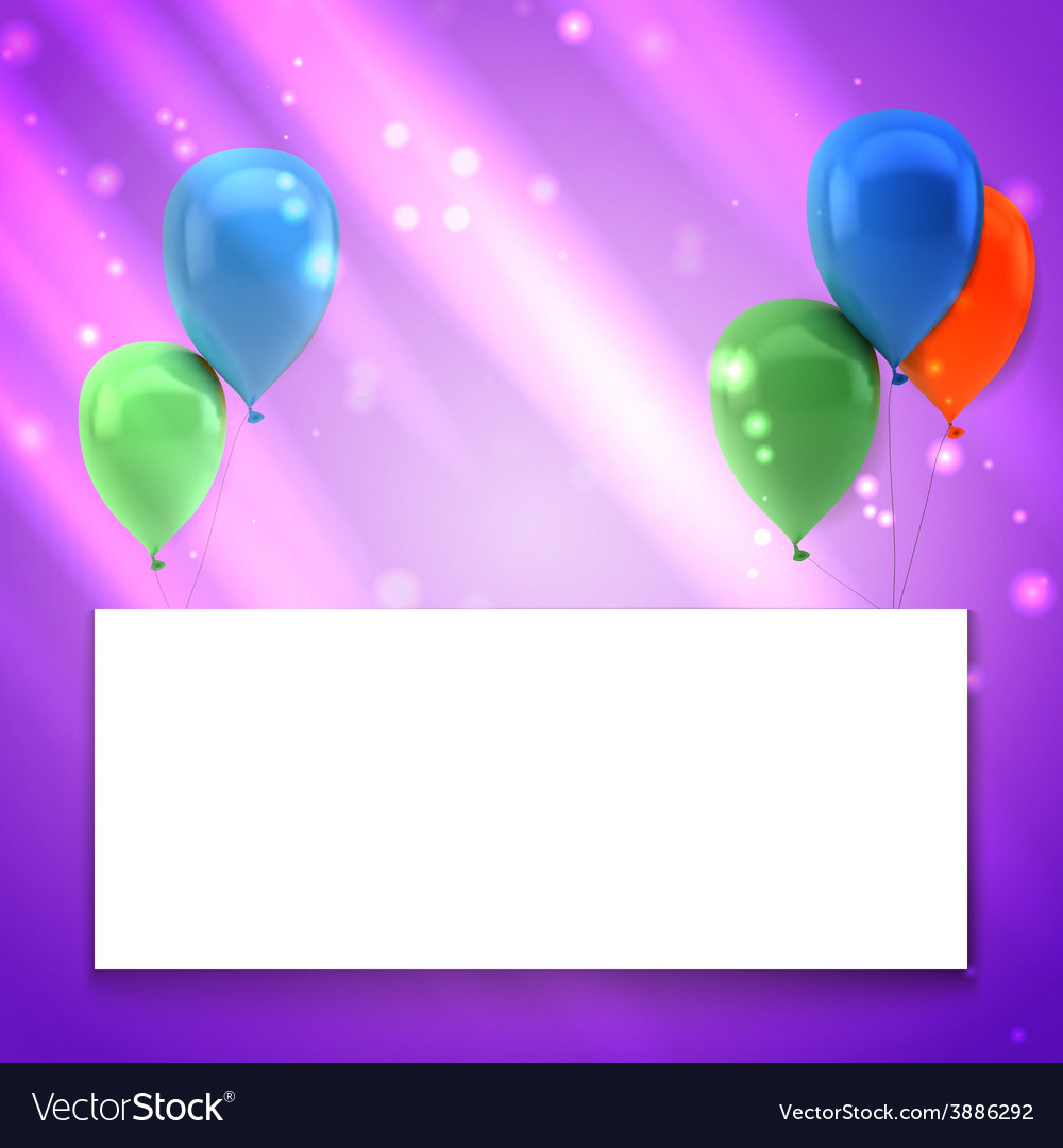 Colorful birthday background with place for text vector | Price: 1 Credit (USD $1)