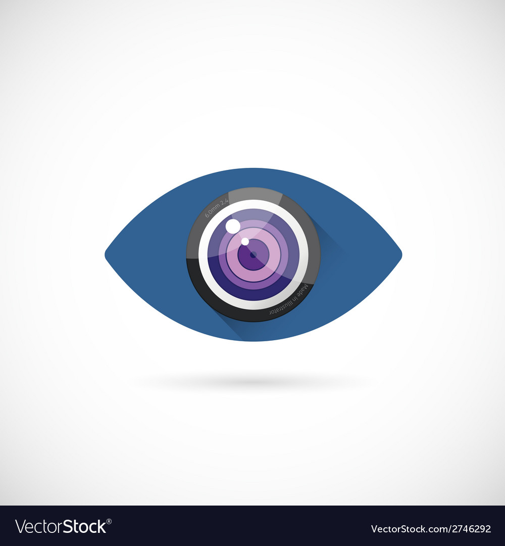 Eye lens abstract concept symbol icon or logo vector | Price: 1 Credit (USD $1)