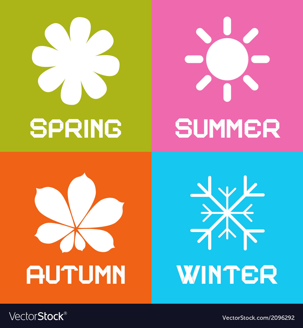 Four seasons vector | Price: 1 Credit (USD $1)