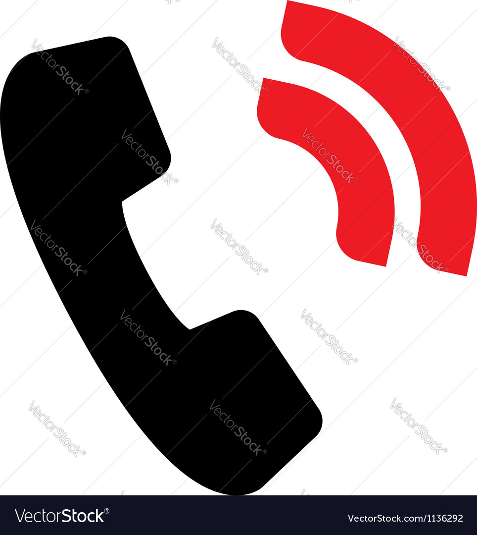 Handset sign vector | Price: 1 Credit (USD $1)