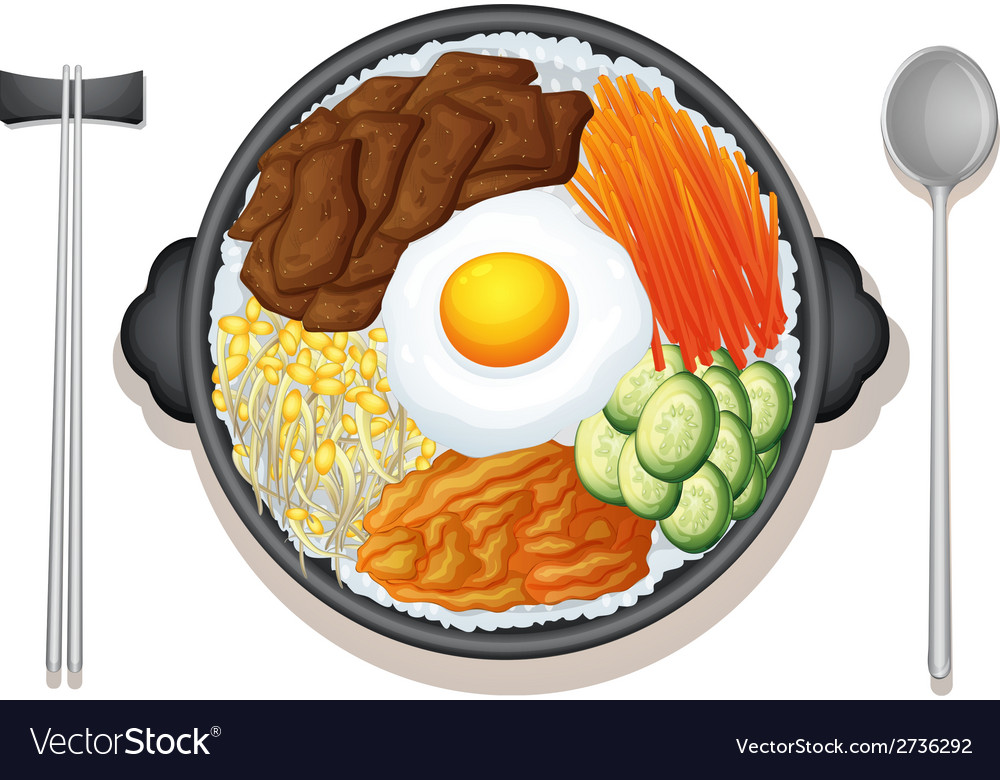 Korean food vector | Price: 1 Credit (USD $1)