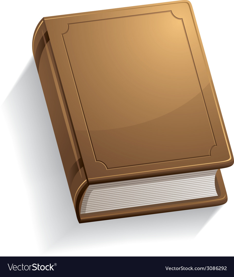 Old book with blank cover vector | Price: 1 Credit (USD $1)