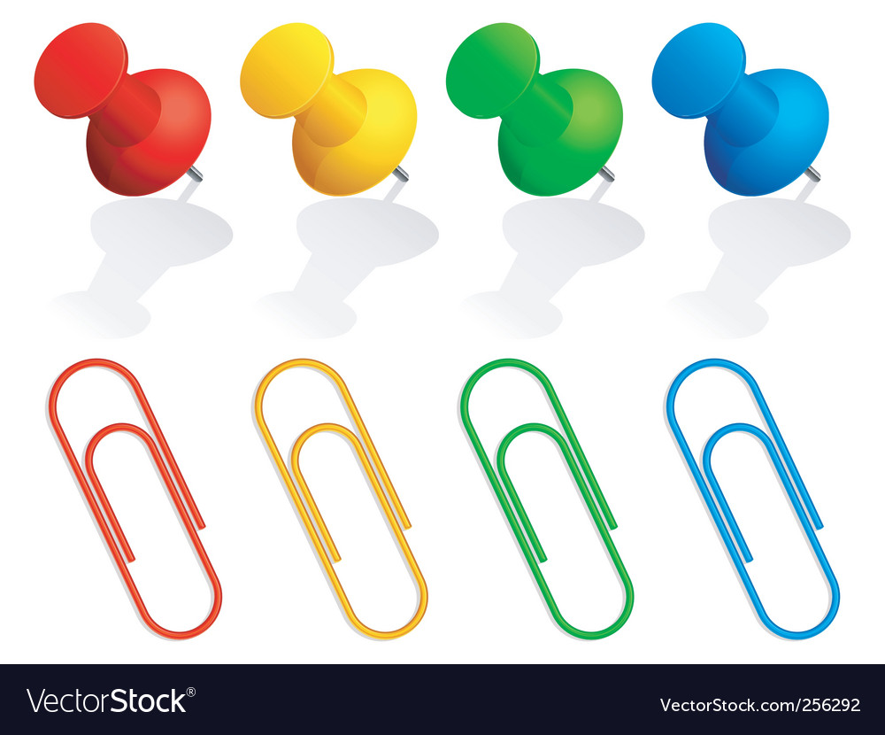 Pins and paper clips vector | Price: 1 Credit (USD $1)