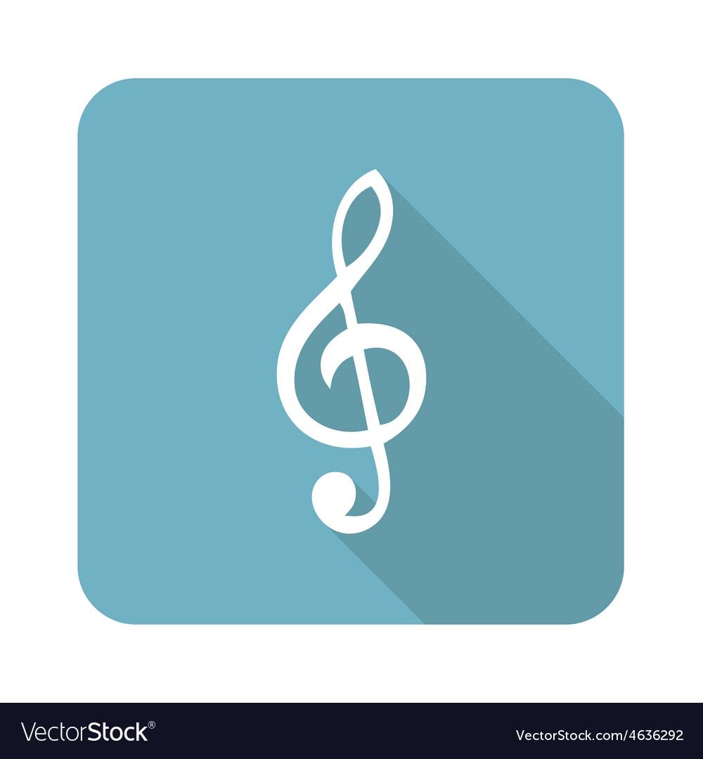Treble clef icon vector | Price: 1 Credit (USD $1)