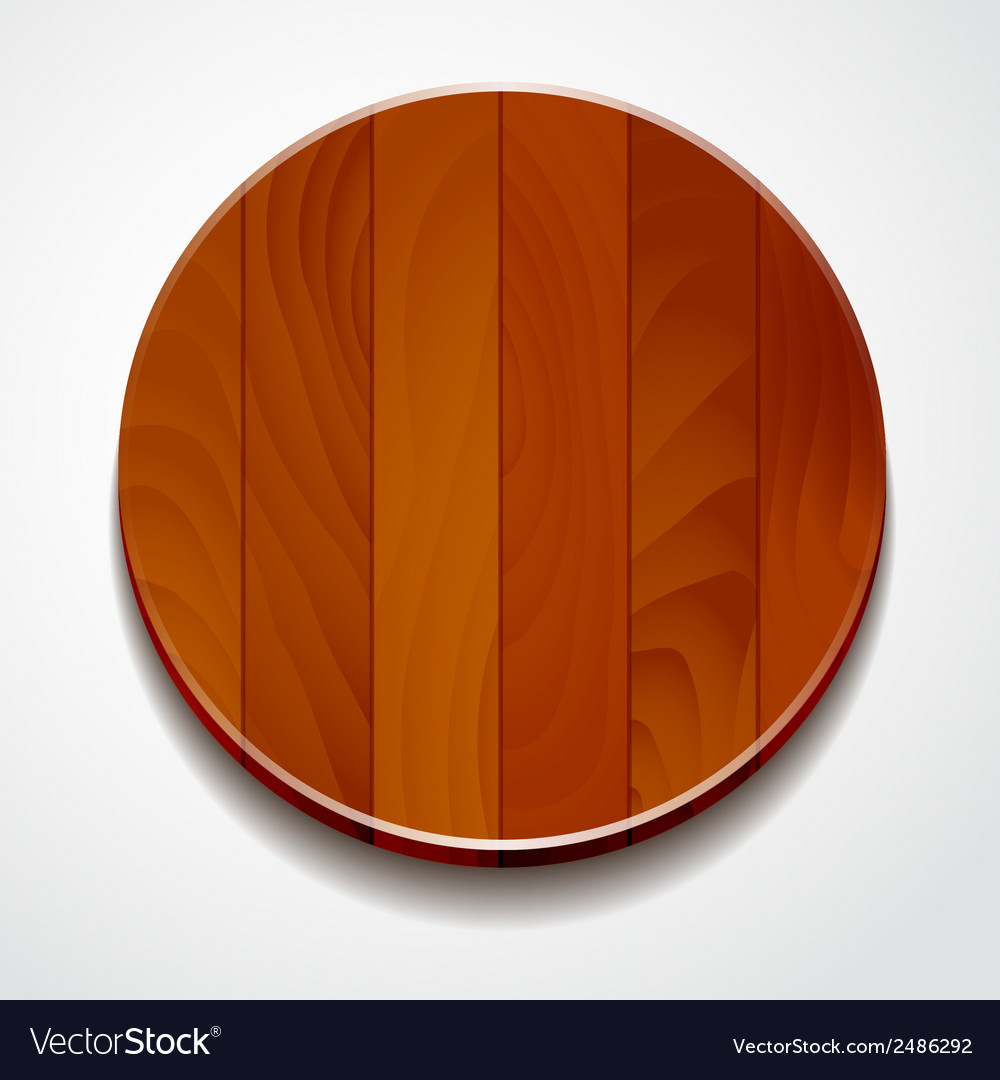 Wood circle isolated vector | Price: 1 Credit (USD $1)