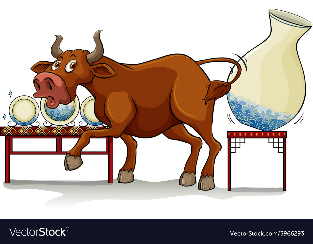 A bull in a china shop vector | Price: 1 Credit (USD $1)