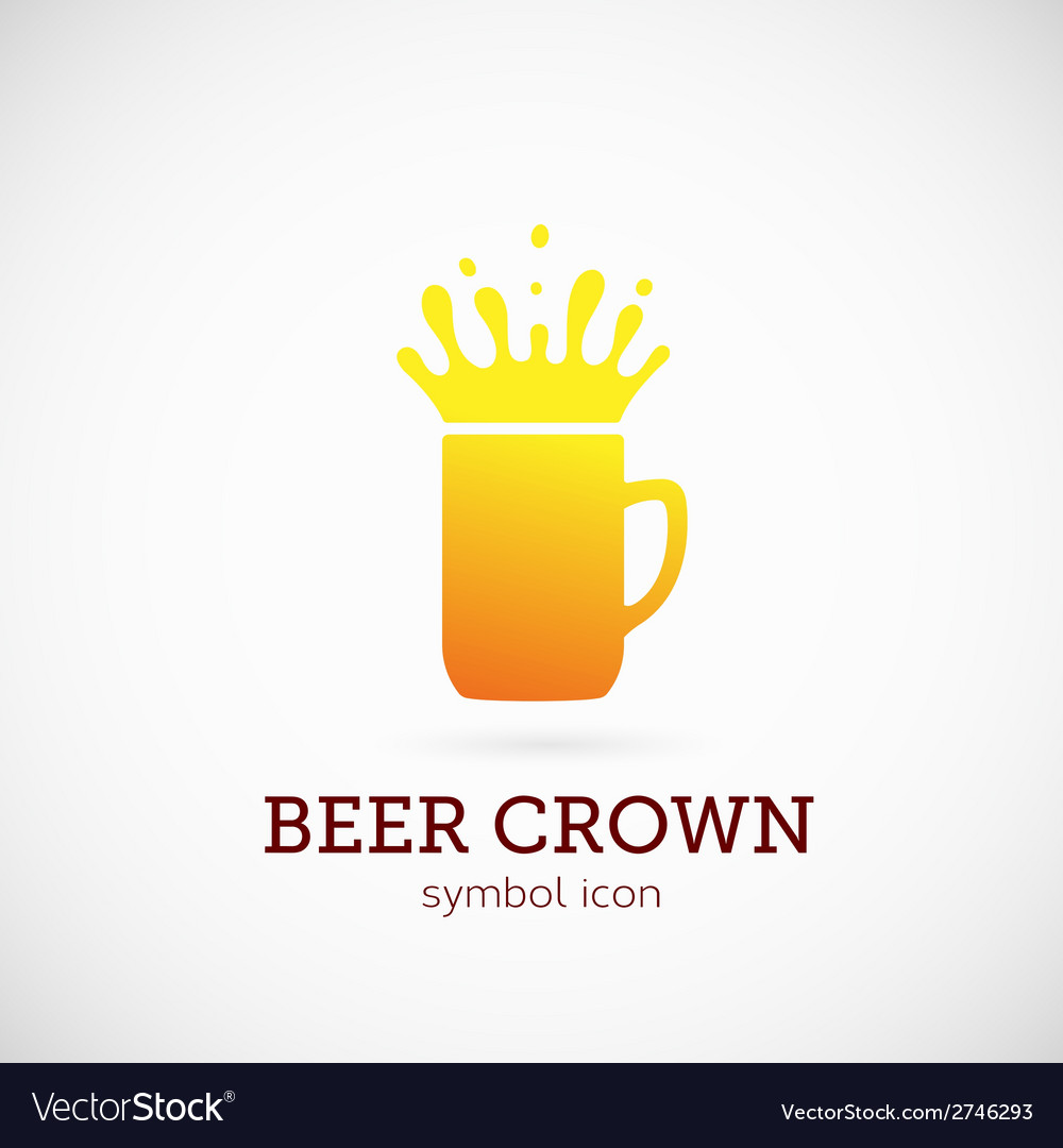 Beer crown concept symbol icon or logo template vector | Price: 1 Credit (USD $1)