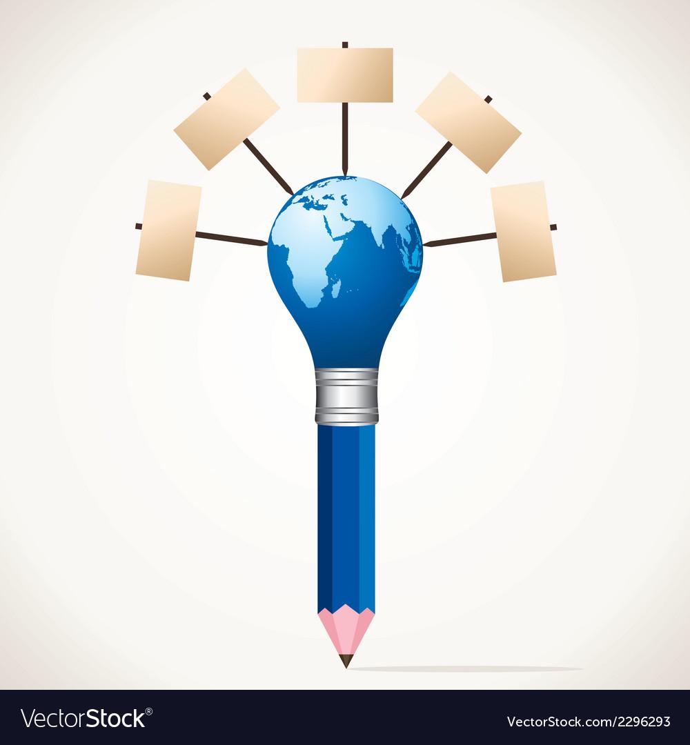 Blank board world map pencil stock vector | Price: 1 Credit (USD $1)