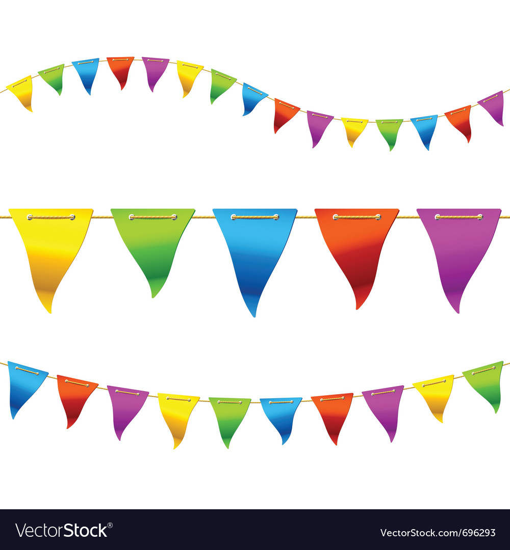 Bunting flags vector