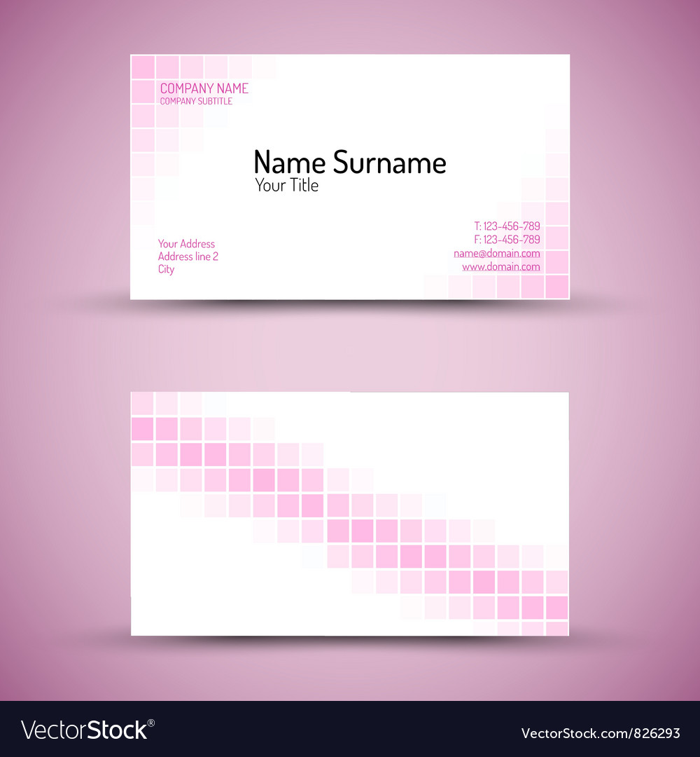 Business card squares vector | Price: 1 Credit (USD $1)