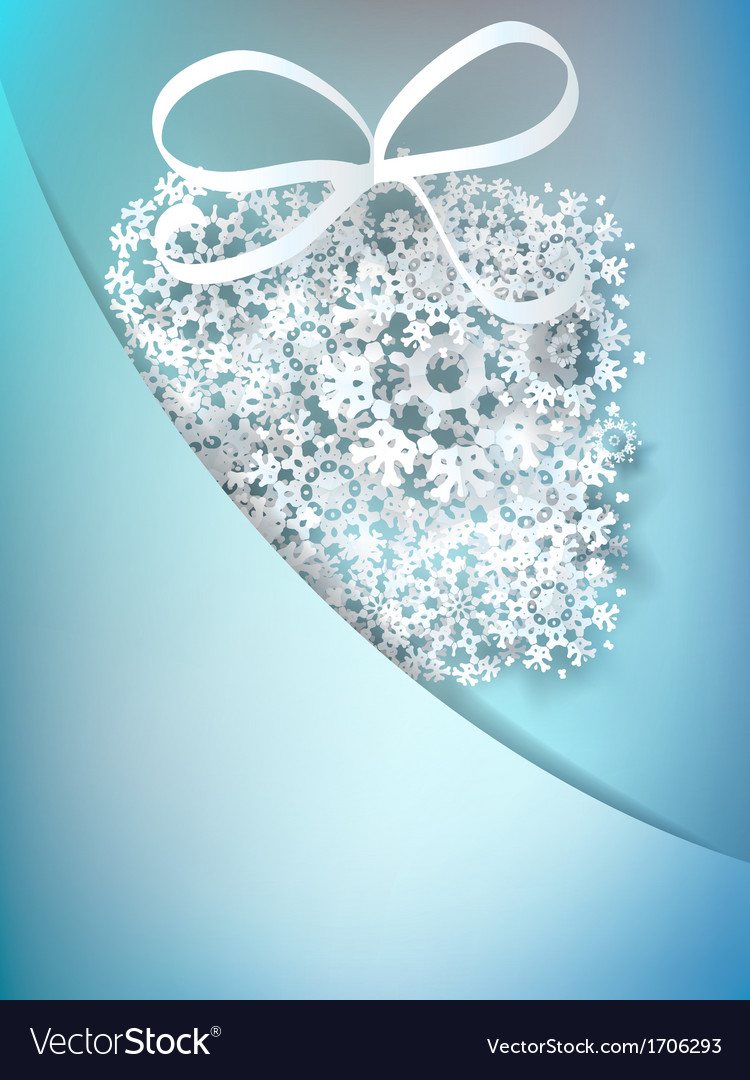 Christmas gift box made from snowflakes  eps10 vector | Price: 1 Credit (USD $1)