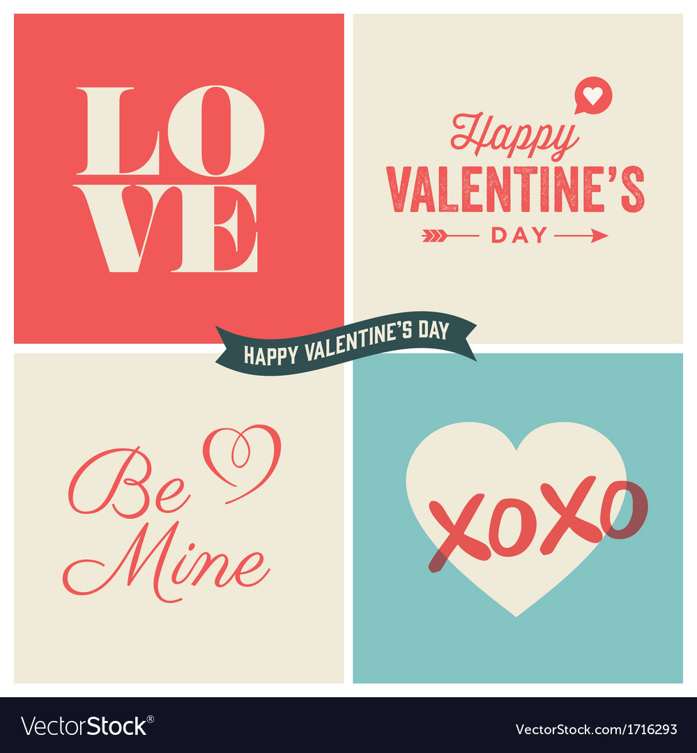 Design elements valentine day set two vector | Price: 1 Credit (USD $1)