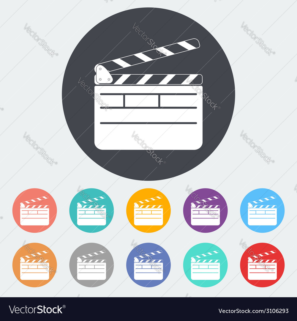 Director clapperboard icon vector | Price: 1 Credit (USD $1)