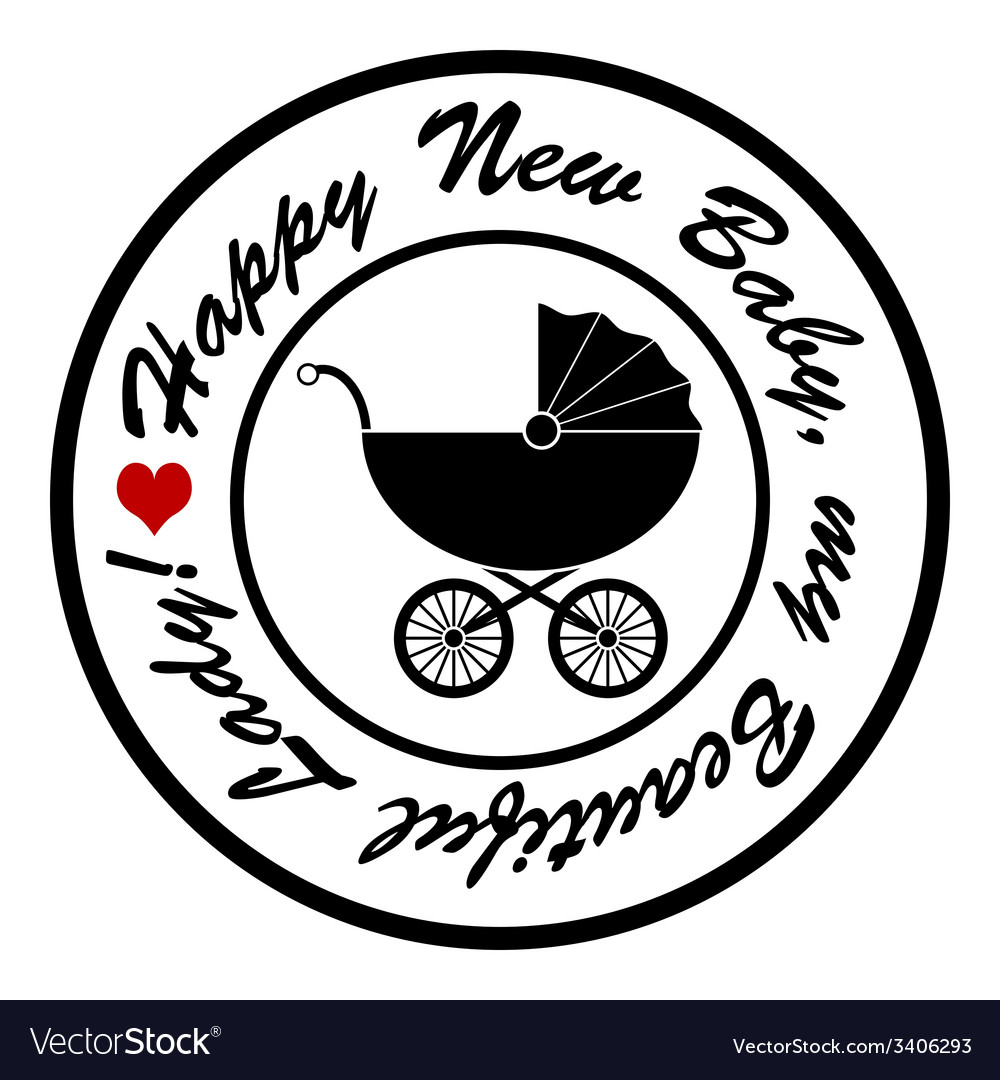 Happy new baby vector   Price: 1 Credit (USD $1)