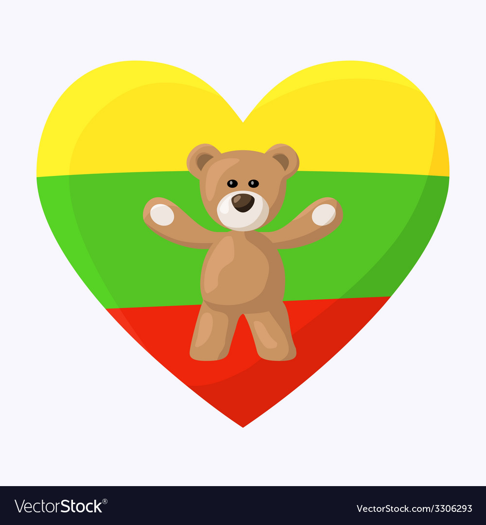 Lithuanian teddy bears vector | Price: 1 Credit (USD $1)