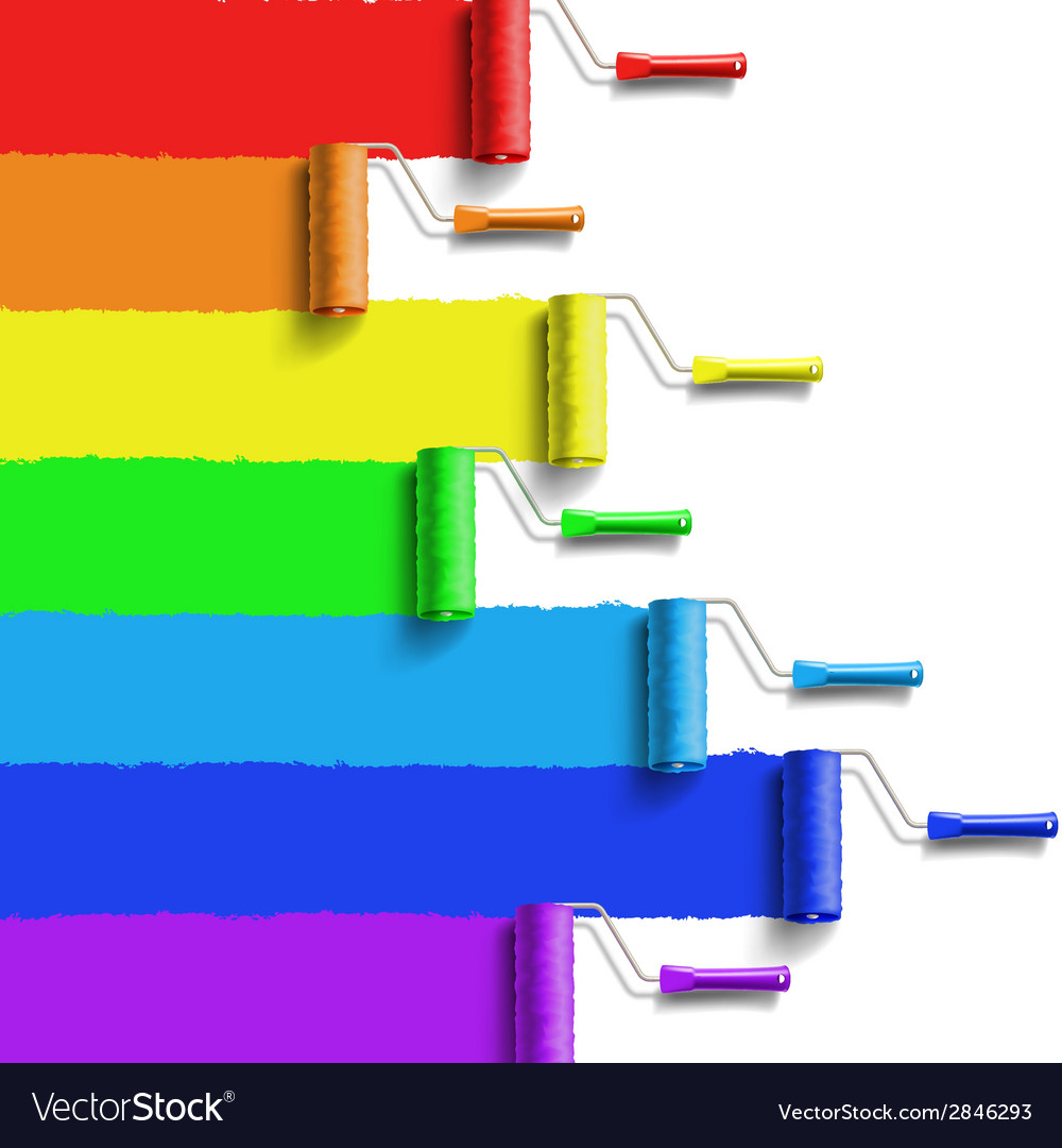 Rainbow roller brush vector | Price: 1 Credit (USD $1)