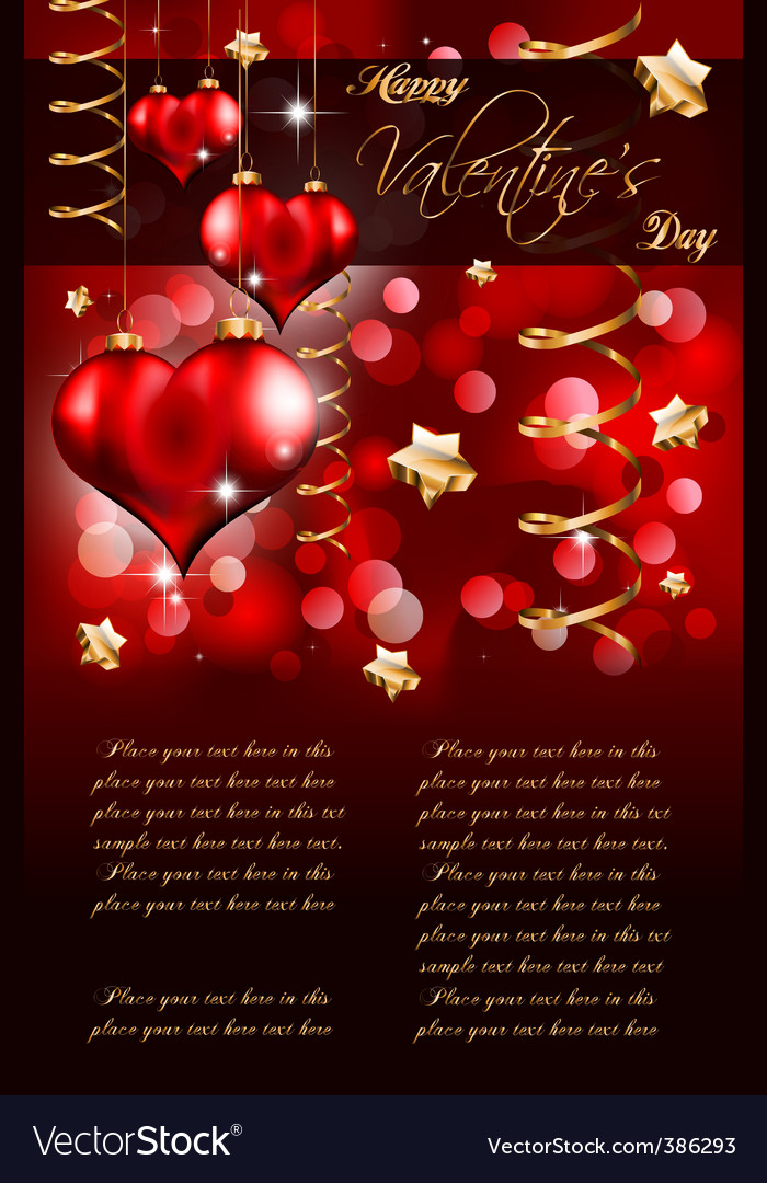 Valentines day flayer vector | Price: 1 Credit (USD $1)