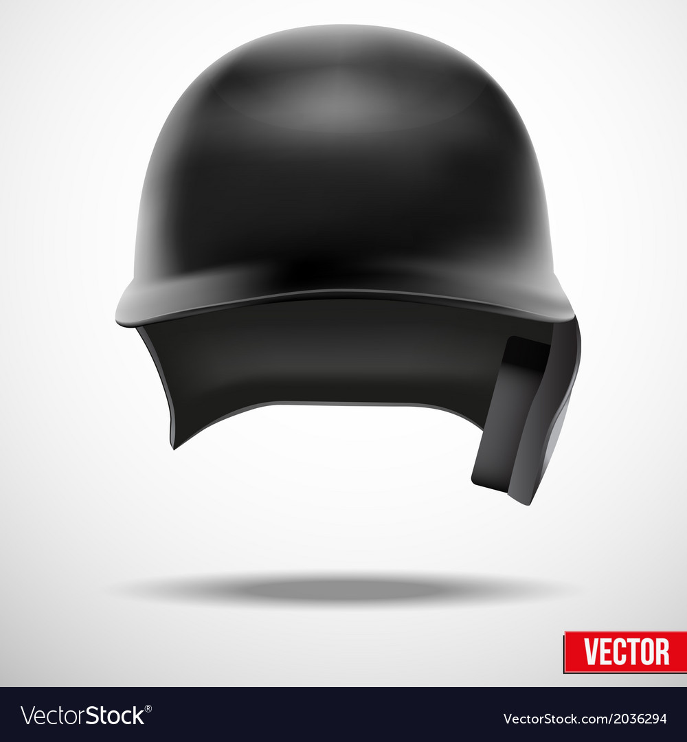 Baseball helmet front view  isolated vector | Price: 1 Credit (USD $1)