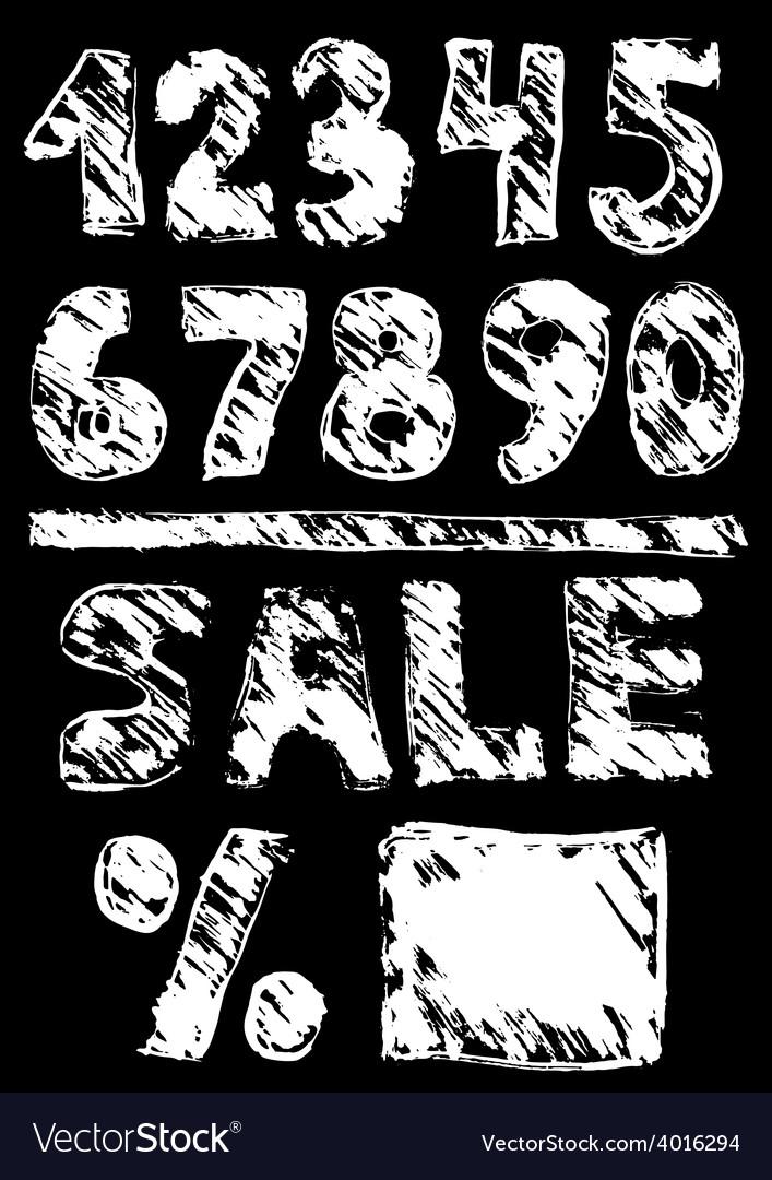 Figures sale black sketch vintage poster vector | Price: 1 Credit (USD $1)