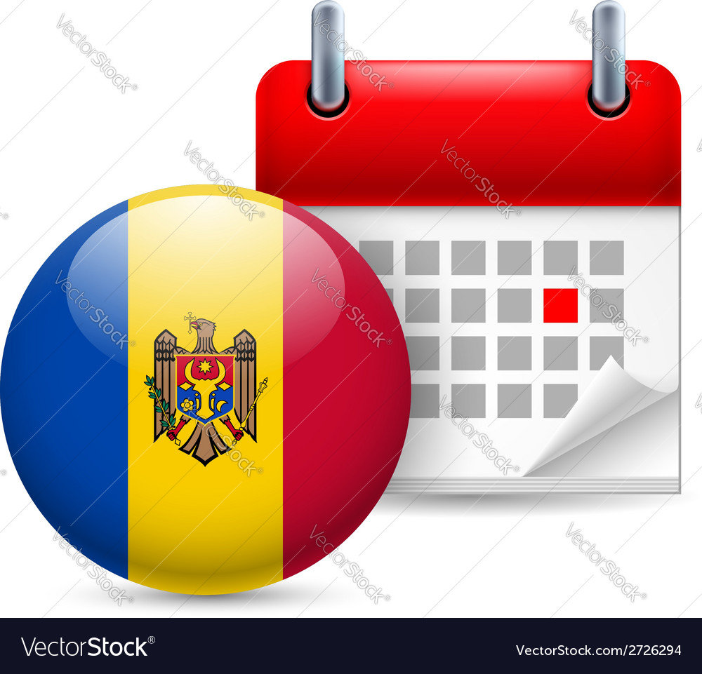 Icon of national day in moldova vector | Price: 1 Credit (USD $1)