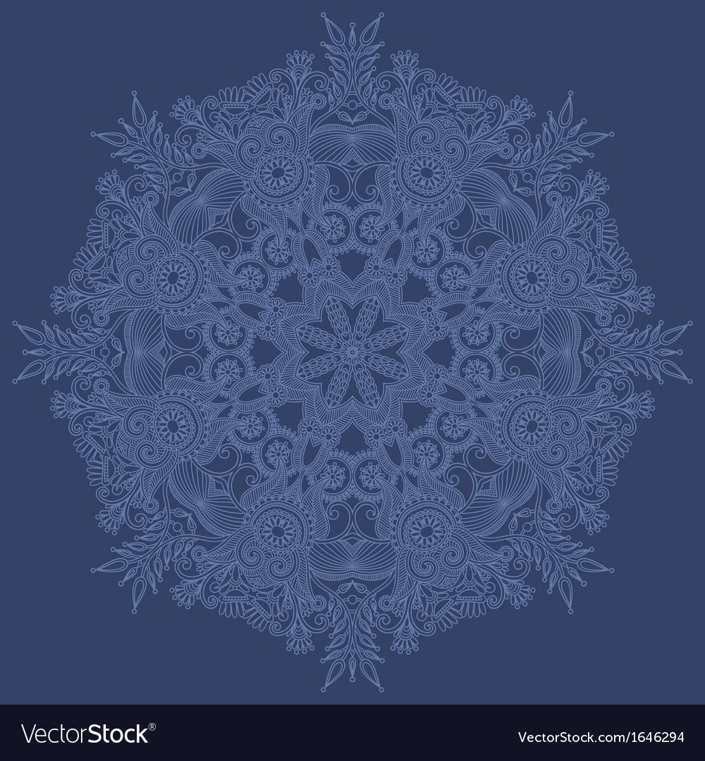 Ornate snowflake vector | Price: 1 Credit (USD $1)