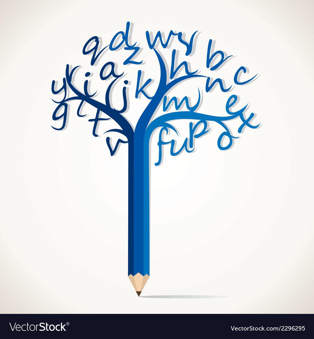 Alphabetical tree stock vector   Price: 1 Credit (USD $1)