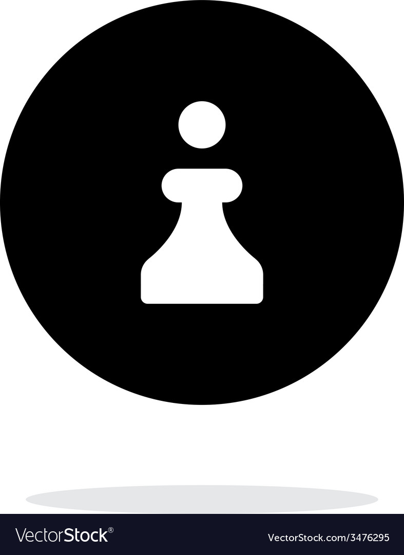 Chess pawn simple icon on white background vector | Price: 1 Credit (USD $1)