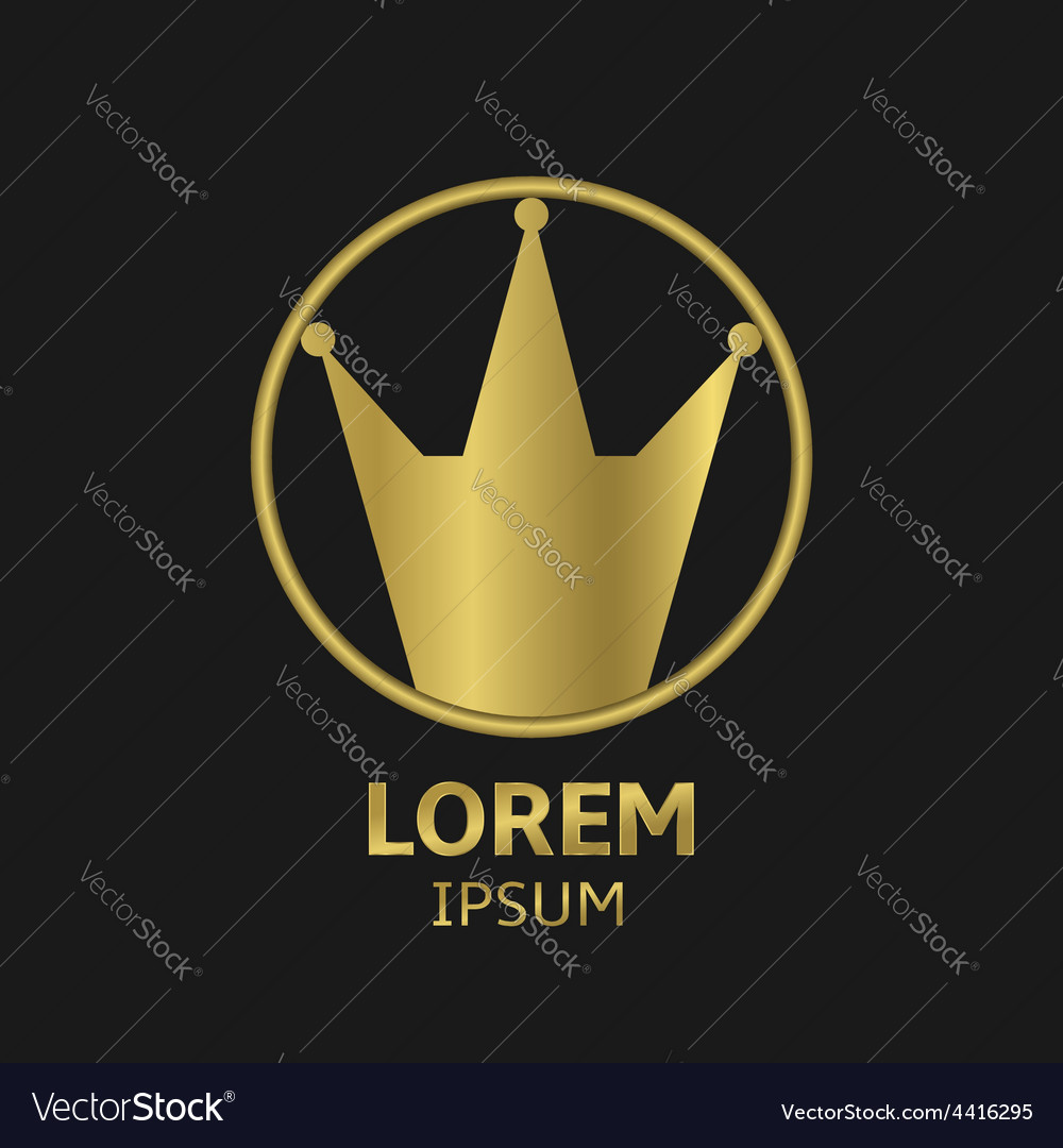 Crown emblem vector | Price: 1 Credit (USD $1)