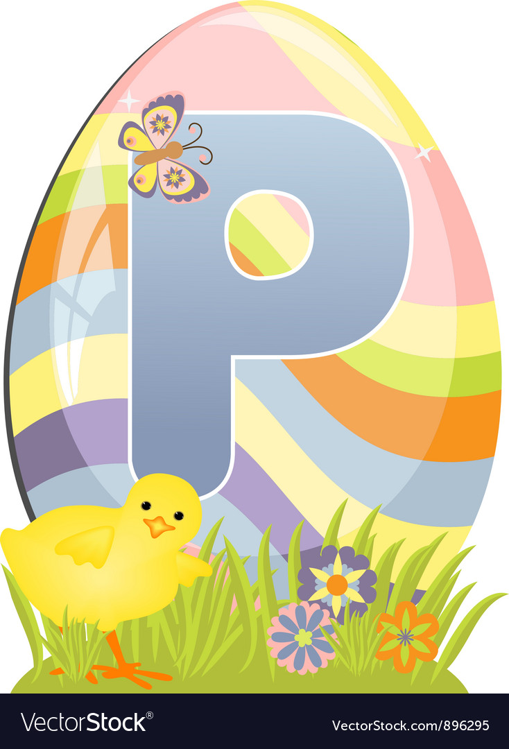 Cute initial letter p vector | Price: 1 Credit (USD $1)