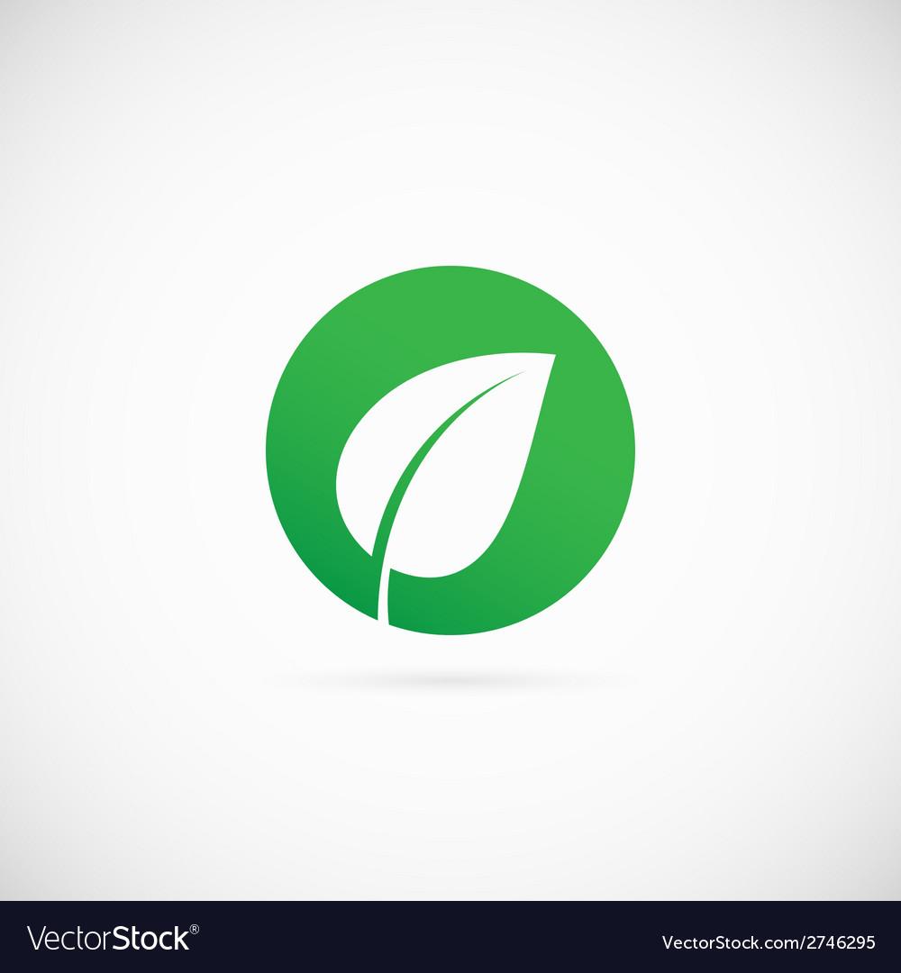 Eco dot abstract symbol icon or logo template vector