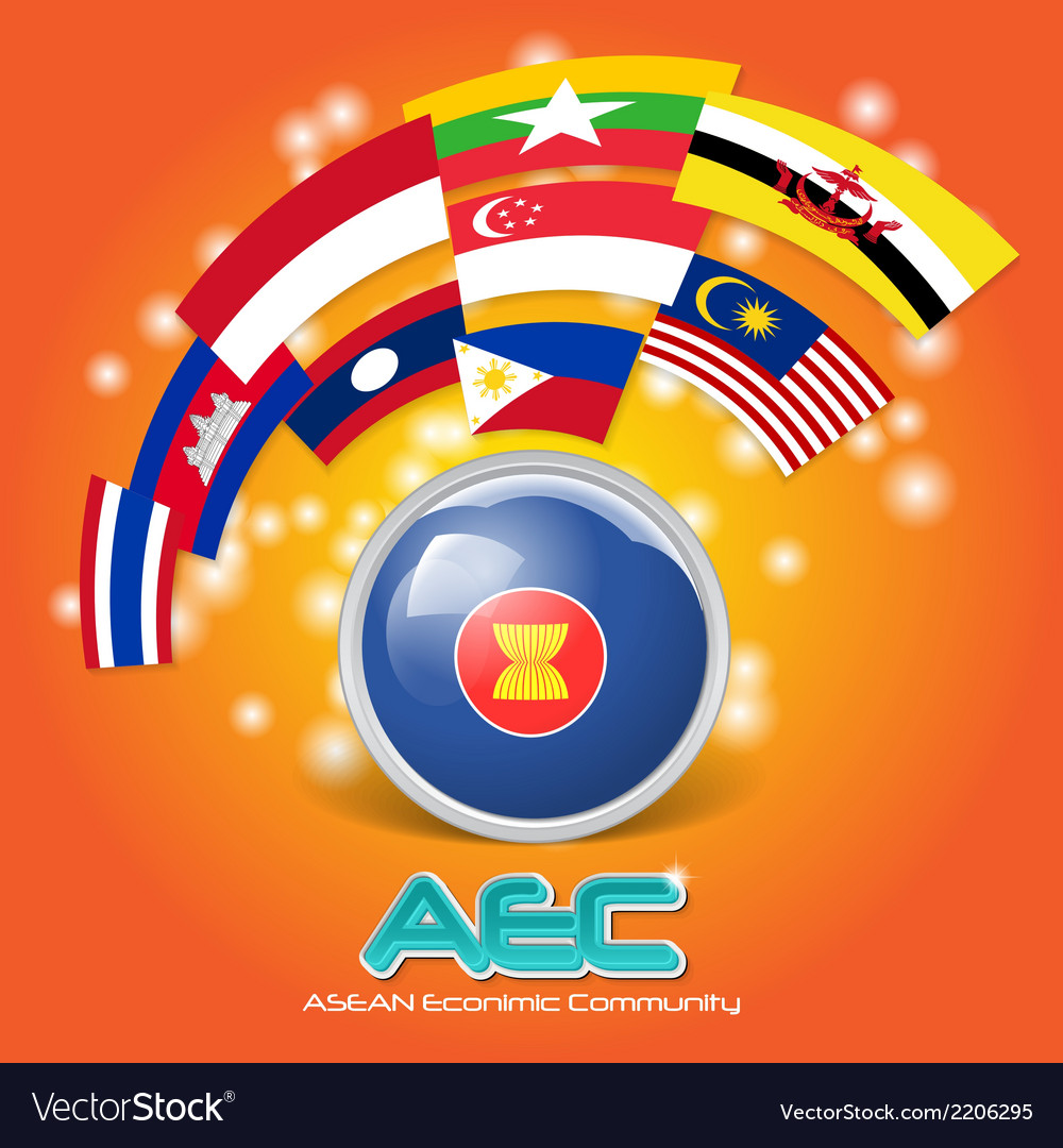 Flag of asean economic community aec 03 vector | Price: 1 Credit (USD $1)