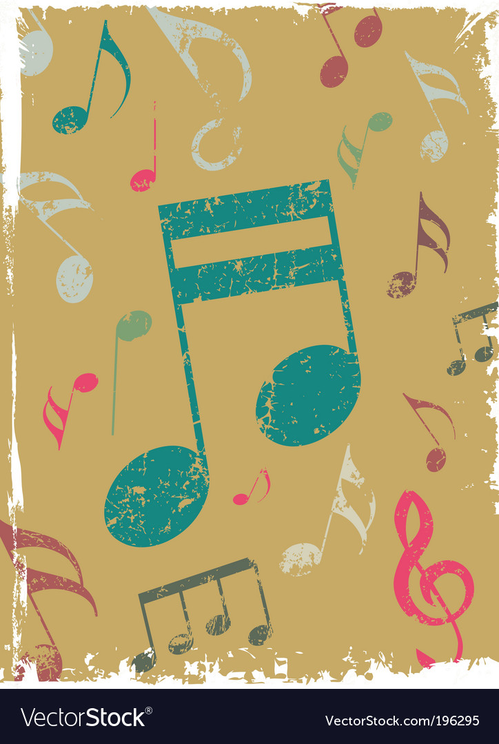 Grunge background with tunes vector | Price: 1 Credit (USD $1)