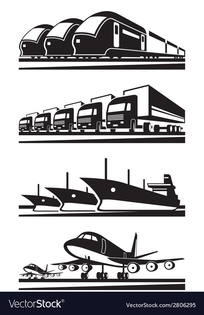 Large cargo transportation vector | Price: 1 Credit (USD $1)