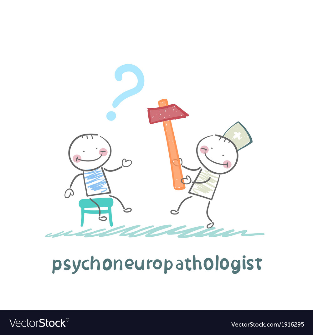 Psychoneuropathologist check the patients nerves vector | Price: 1 Credit (USD $1)