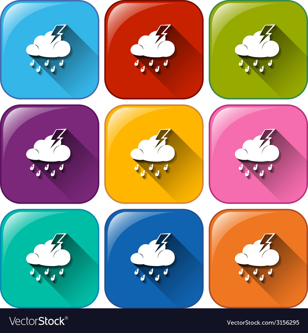 Rounded buttons with the different weather vector | Price: 1 Credit (USD $1)