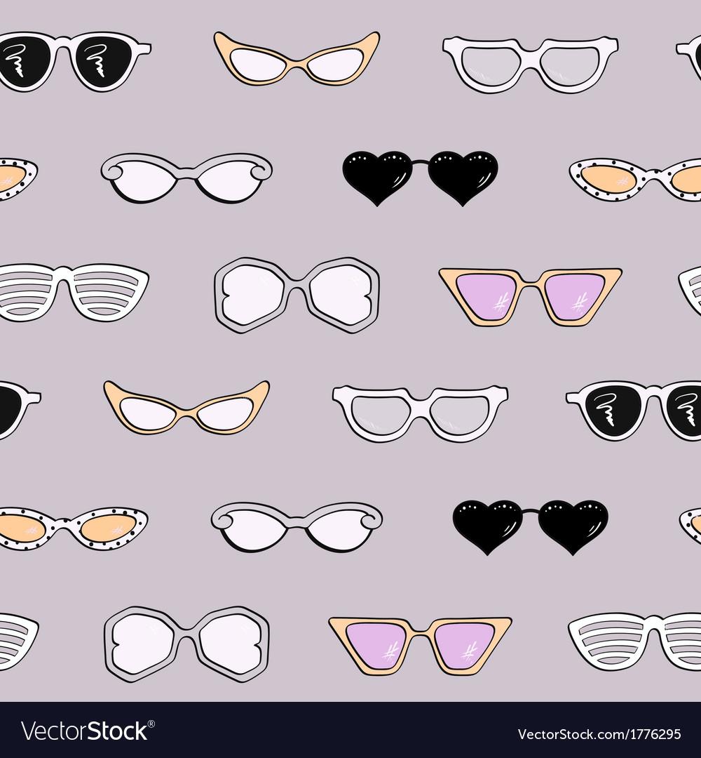 Seamless pattern women fashion sunglasses vector   Price: 1 Credit (USD $1)
