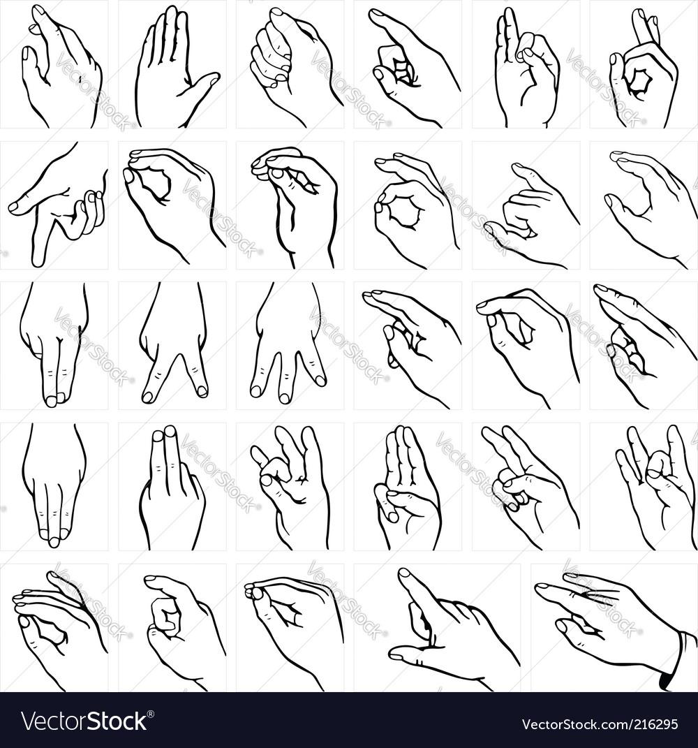 Sign language vector | Price: 1 Credit (USD $1)