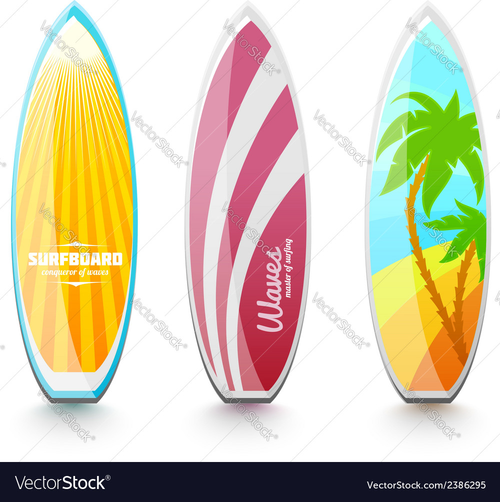 Surfboards for surfing vector | Price: 1 Credit (USD $1)