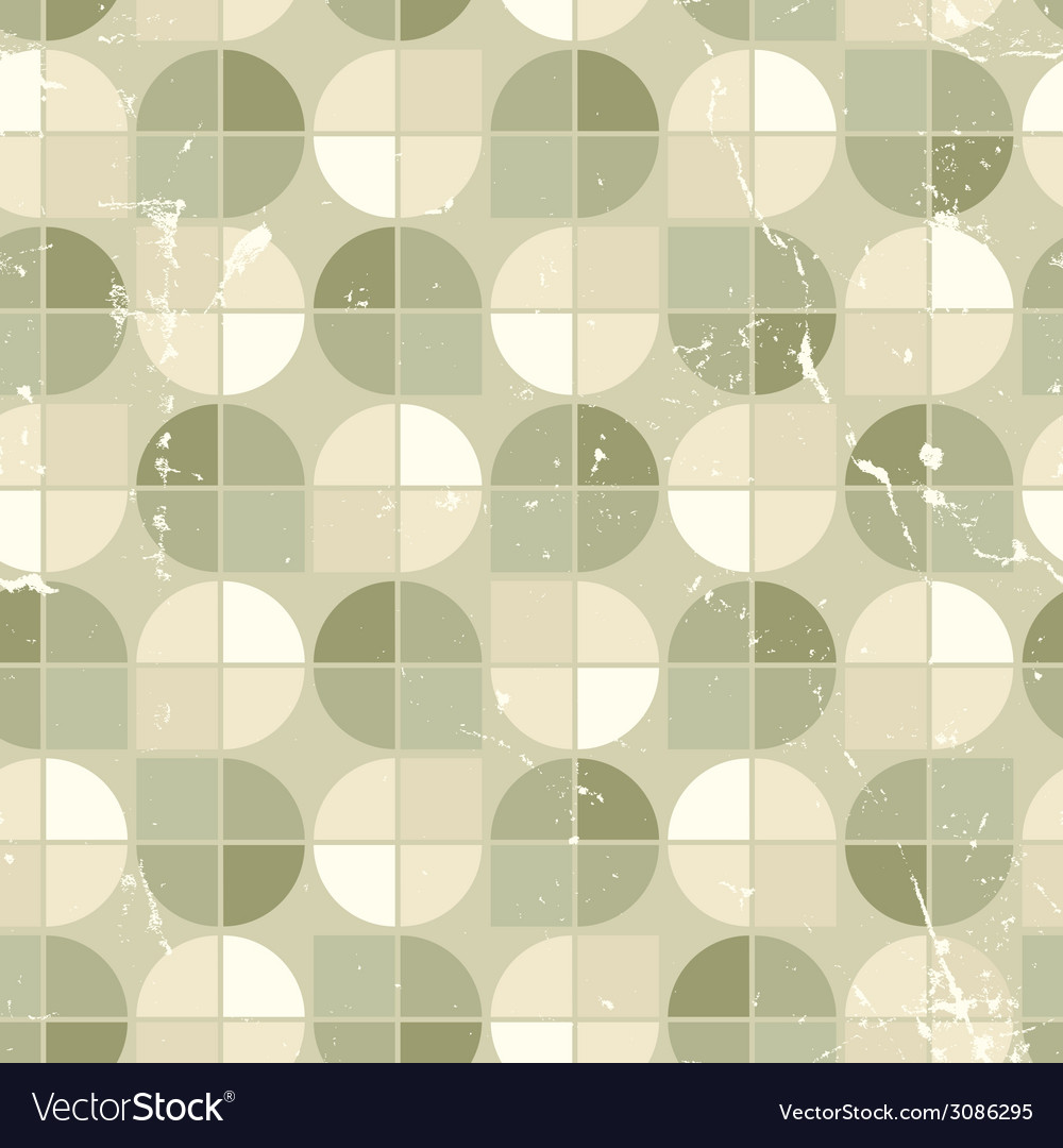 Vintage seamless tiles with grunge texture vector | Price: 1 Credit (USD $1)
