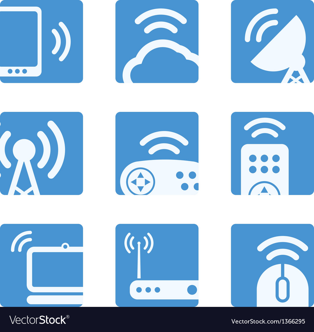 Wireless equipment buttons vector | Price: 1 Credit (USD $1)