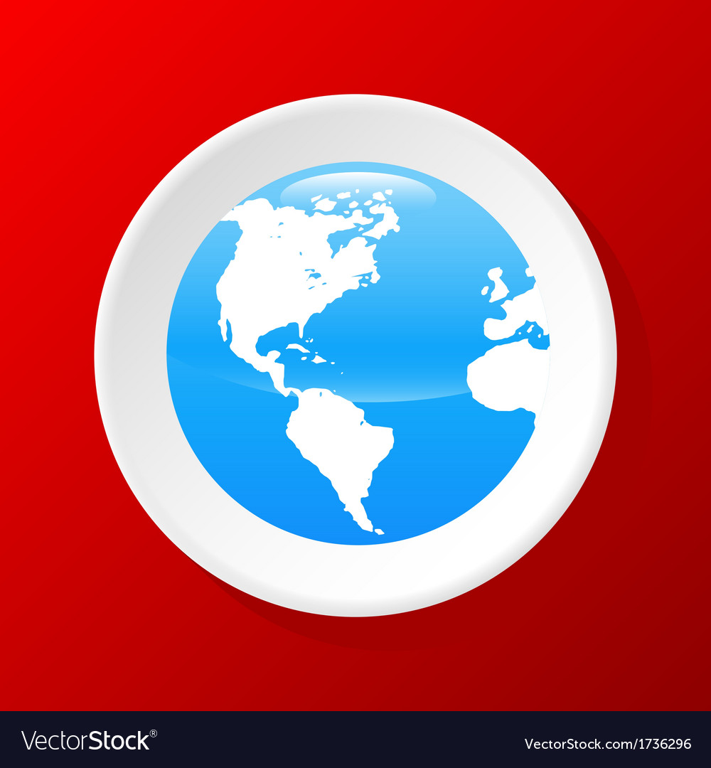 3d globe icon vector | Price: 1 Credit (USD $1)