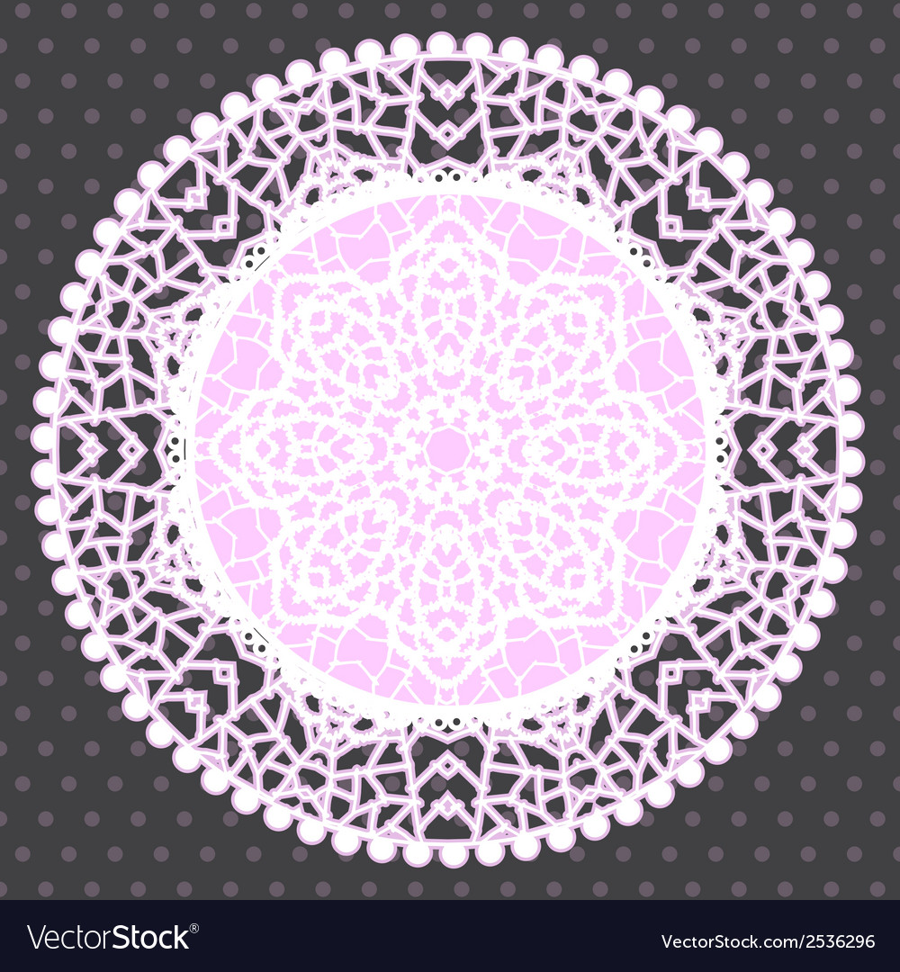 Background with ornamental round lace pattern vector | Price: 1 Credit (USD $1)