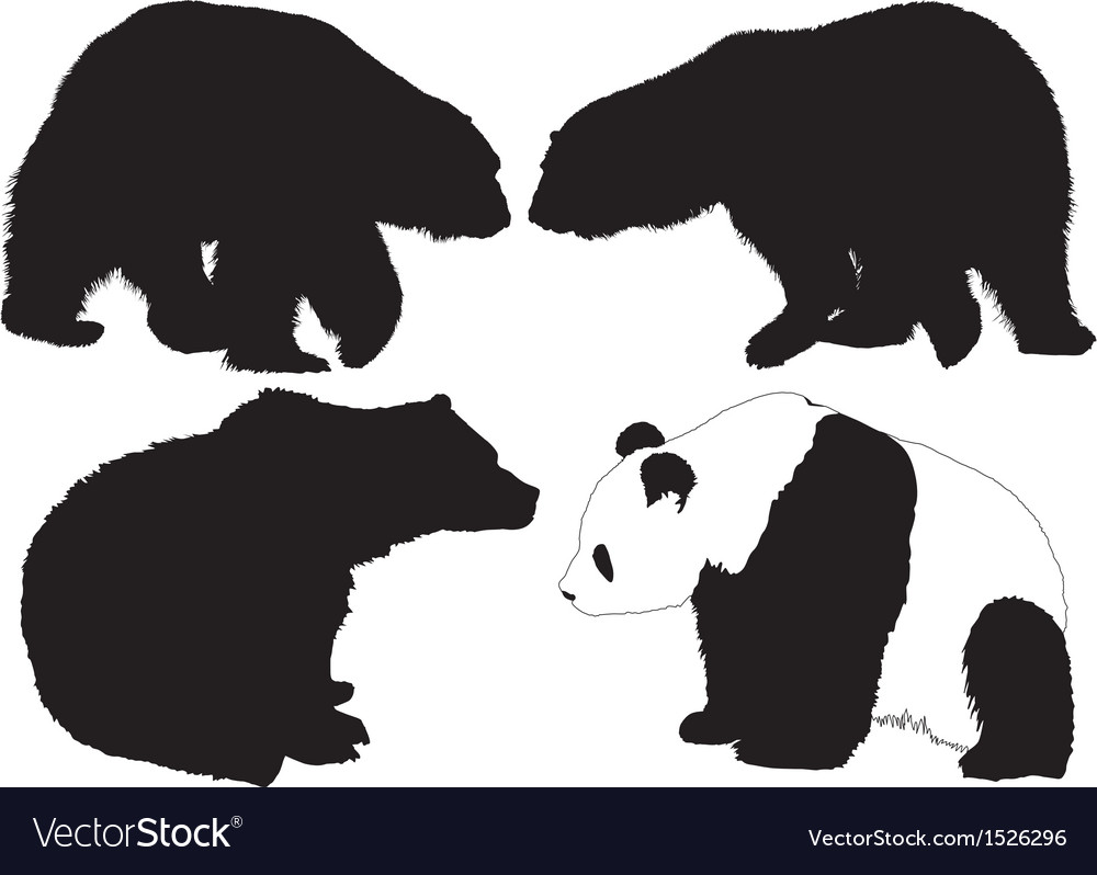 Bear silhouette vector | Price: 1 Credit (USD $1)