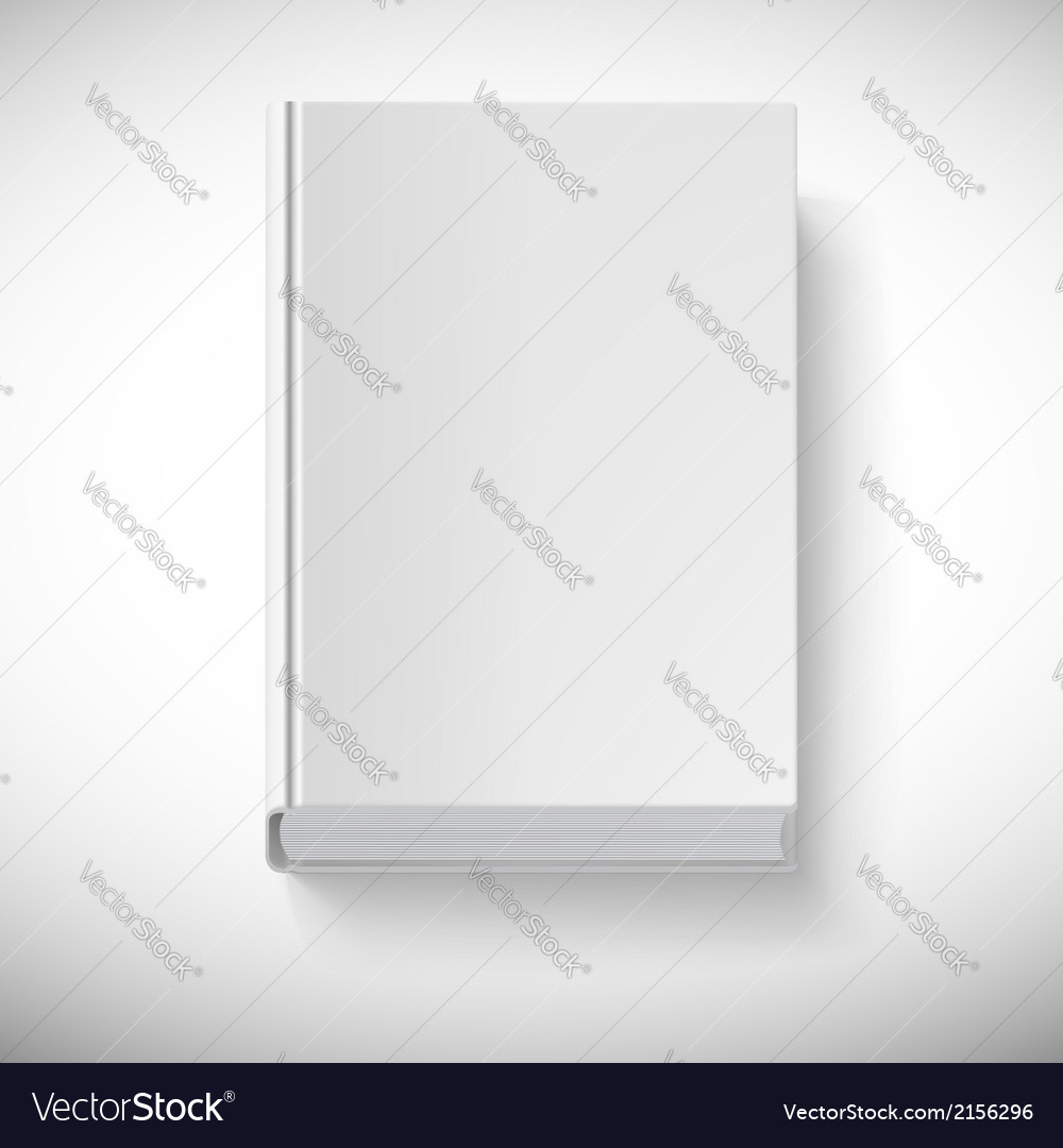 Blank book drawn in perspective vector | Price: 1 Credit (USD $1)