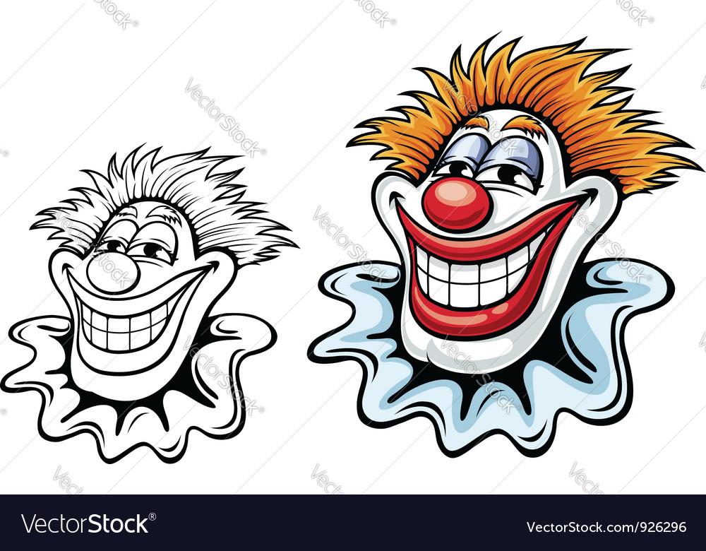 Cartoon circus clown vector | Price: 1 Credit (USD $1)